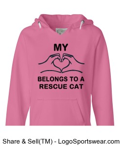 Pink Ladies Rescue Cat Sweatshirt Design Zoom