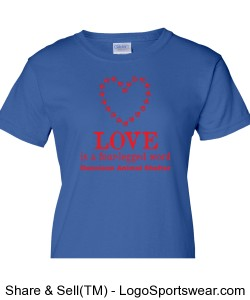 Iris Blue Love Ladies Shirt Design Zoom
