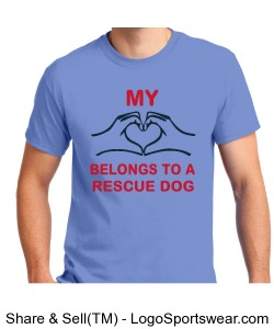 Light blue Rescue Dog Shirt Design Zoom