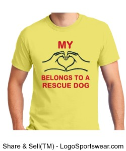 Yellow Rescue Dog Shirt Design Zoom