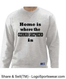 Birch Colored Men's Sweatshirt German Shepard Design Zoom