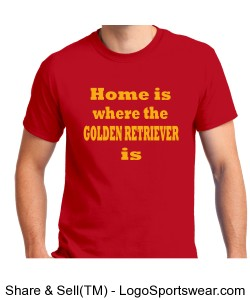 Red Golden Retriever Shirt Design Zoom