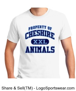 Cheshire Animal White Shirt Design Zoom