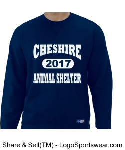 Navy Blue Men's Cheshire Animal Shelter Sweatshirt Design Zoom